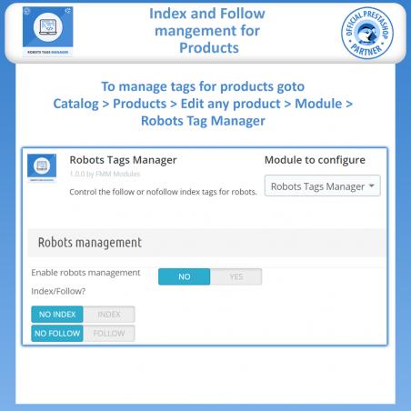 Meta Robot Tags - NoFollow NoIndex Manager
