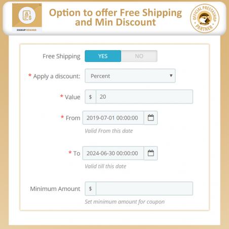 Signup Reward - Offer Discounts Upon Registration