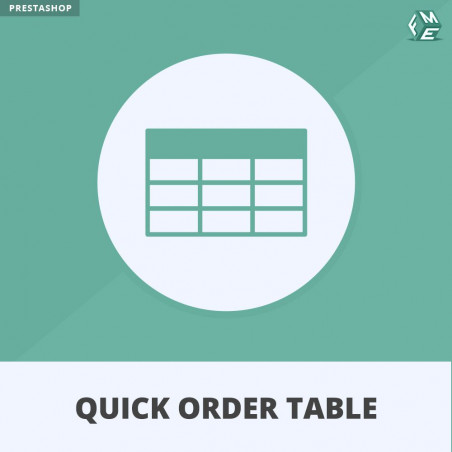 Quick Order Table