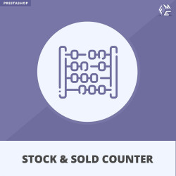 Prestashop Stock and Sold Counter Module