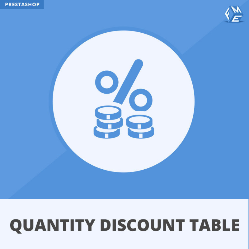 Prestashop Quantity Discount Table