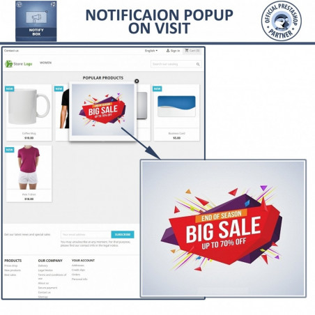 Popup Promo & Notification Box