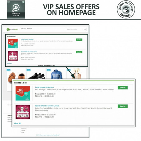 Private Sale & Category