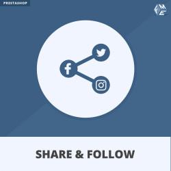 Prestashop Share and Follow Module