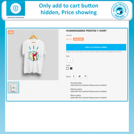 Hide Price and Add to Cart Button