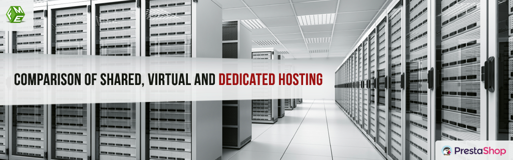 Comparison of Shared, Virtual and Dedicated Hosting