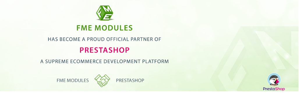FMEModules is now an Official PrestaShop Partner – Another Milestone Achieved